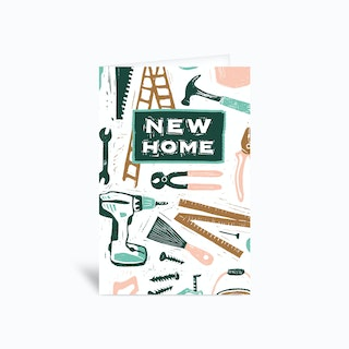 New Home Handy Tools 4x6 Greetings Card