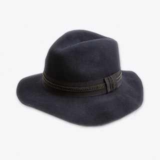 Chain Fedora Navy