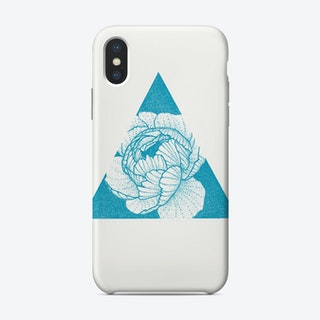 Blue Peony Phone Case
