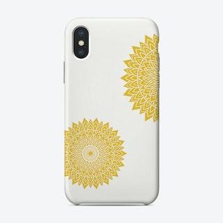 Mustard Mandala Phone Case