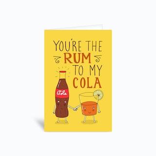 Rum And Cola Greetings Card