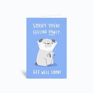Pawly Greetings Card
