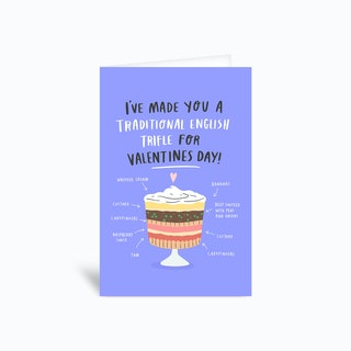 Valentines Trifle Greetings Card