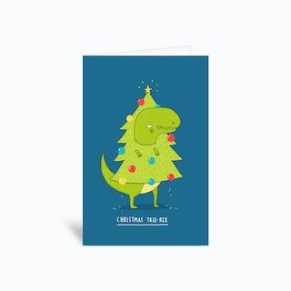 Tree Rex Greetings Card