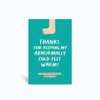 Cold Feet Greetings Card