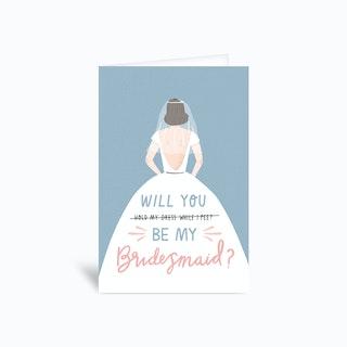 Bridesmaid Greetings Card