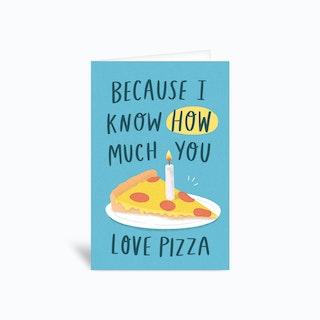 Pizza Birthday Greetings Card