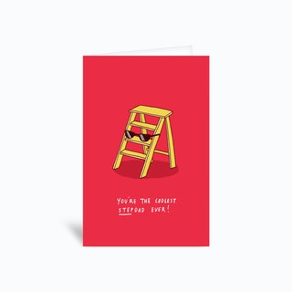 Coolest Stepdad Greetings Card