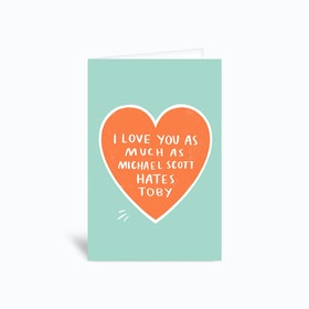 Michael Scott Greetings Card