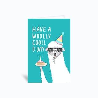 Wooly Cool Greetings Card