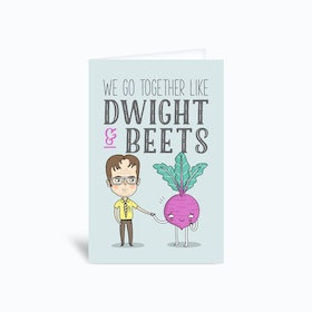 Dwight And Beets Greetings Card