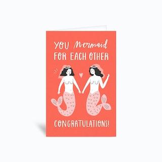Congrats Mermaid Greetings Card