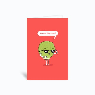 Brussel Sprout Greetings Card