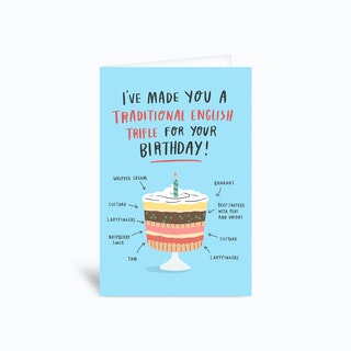 Birthday Trifle Greetings Card