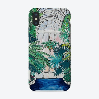A Solitary Walk At Kew Gardens Plant House Interior Phone Case