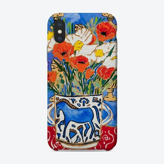 California Poppy Still Life With Horse Vase And Greek Busts Phone Case