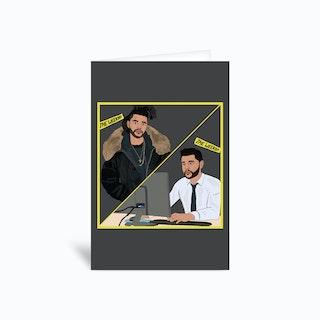 The Weeknd Greetings Card