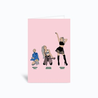 Ariana Grande Greetings Card