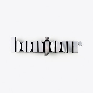 Bonjour in Mirrored Silver