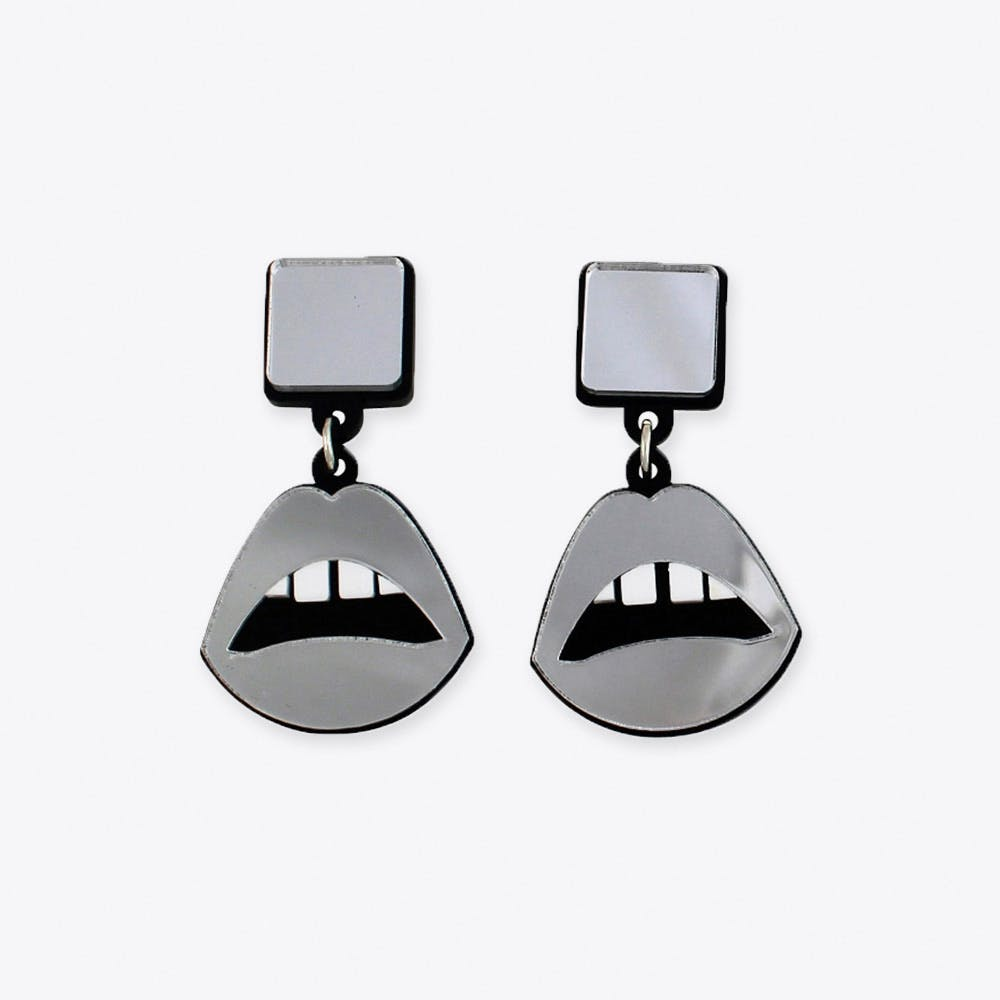 Sealed with a Kiss Earrings in Silver
