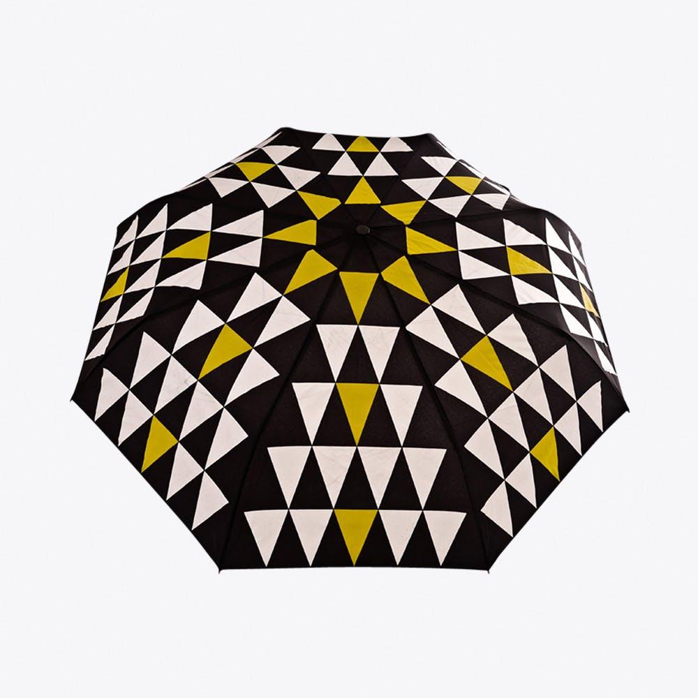 Pyramid Umbrella in Mustard & Silver