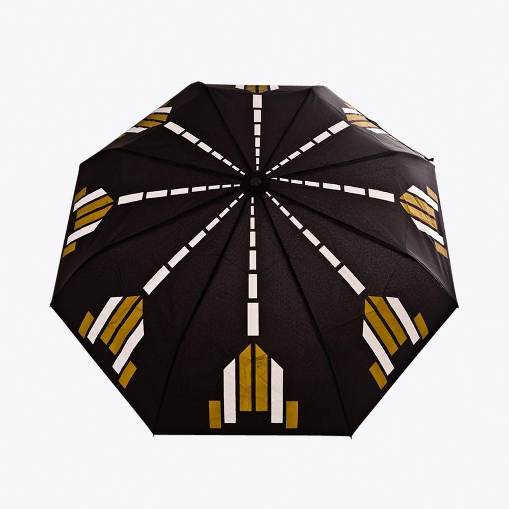 Bijoux Umbrella in Black, Gold & Silver