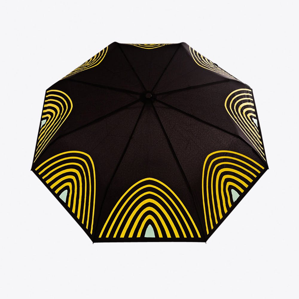 Starlight Umbrella in Yellow & Aqua