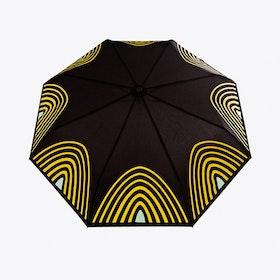 Starlight Umbrella in Yellow & Aqua