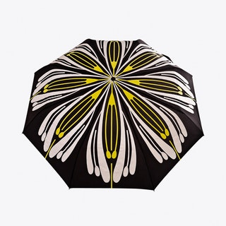Flores Umbrella in Yellow & Silver