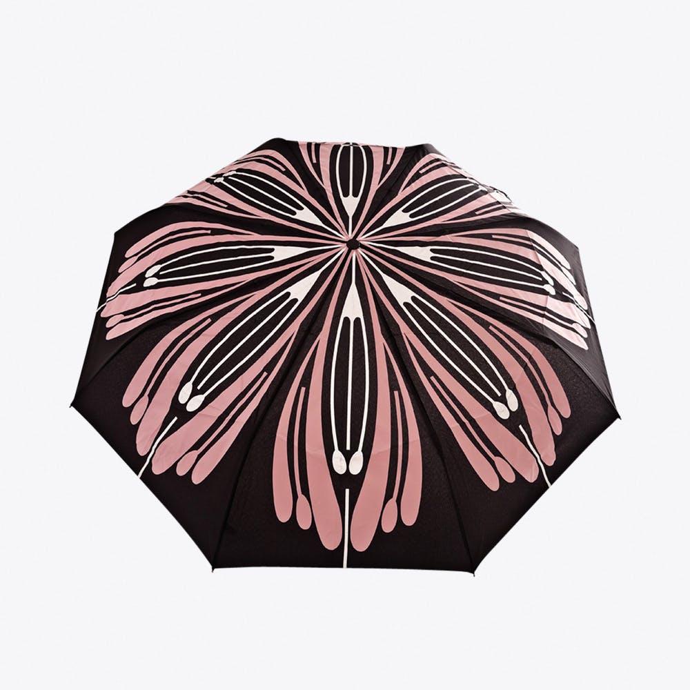 Flores Umbrella in Pink & Silver