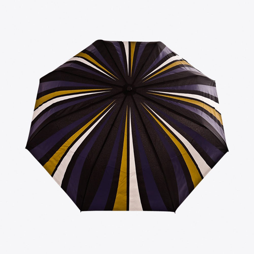 City Slick Umbrella in Gold, Navy & Silver