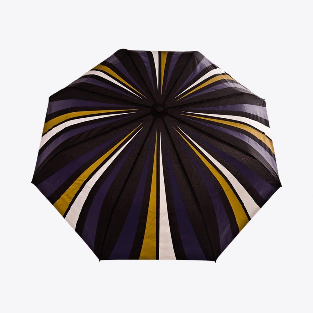 City Slick Umbrella in Gold, Navy & Silver