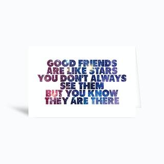 Good Friends Greetings Card