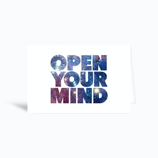Open Your Mind Greetings Card