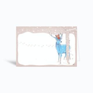 Deer In The Snow Greetings Card