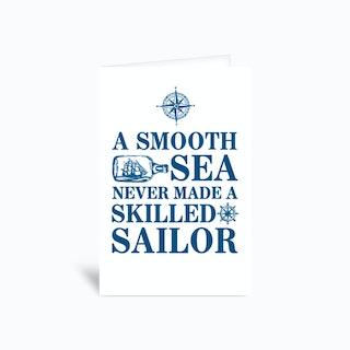 A Smooth Sea Greetings Card