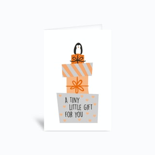 A Tiny Little Gift Greetings Card