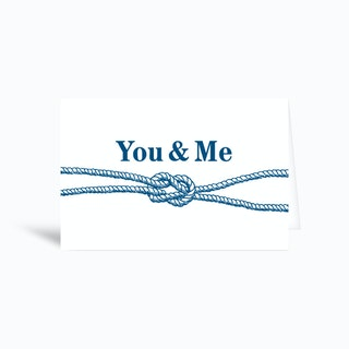 You And Me Greetings Card