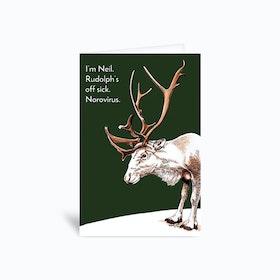 Replacement Reindeer Greetings Card