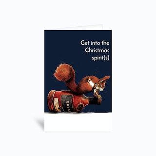Spirit Squirrel Greetings Card