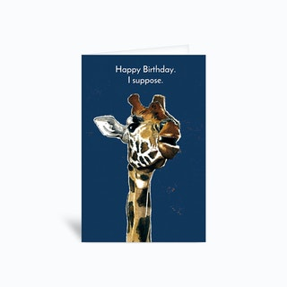 Birthday Giraffe Greetings Card