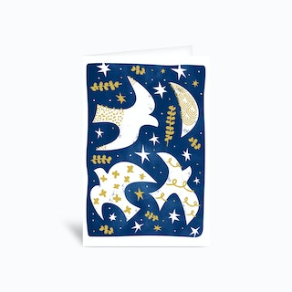 Night Birds Greetings Card