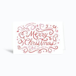 Merry Swirls Greetings Card