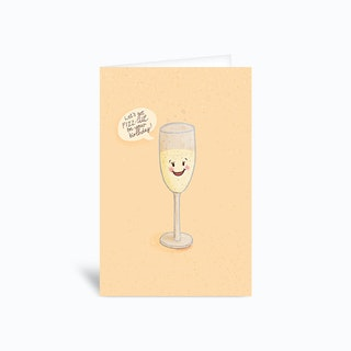 Lets Get Fizzical Birthday Pun Greetings Card