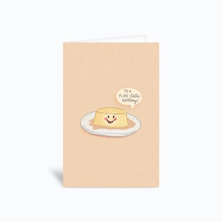 Flantastic Birthday Pun Greetings Card