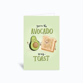 Avocado To My Toast Perfect Pair Greetings Card