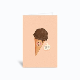 Gelato Fun Birthday Pun Greetings Card