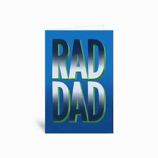 Rad Dad Bold Lettering Fathers Day Greetings Card