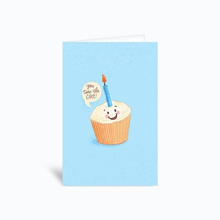 You Take The Cake Birthday Pun Greetings Card