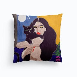 Cat Lover Canvas Cushion